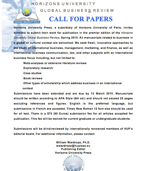 Call for Papers - HU NEW